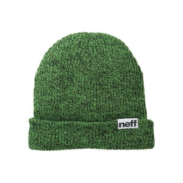 Neff Heather Fold Beanie Black Green