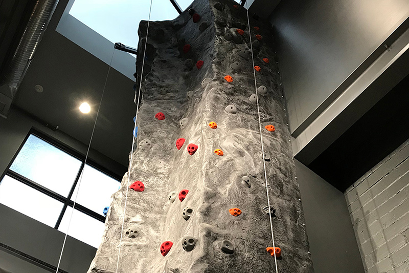 Paddle and Climb Rock Wall