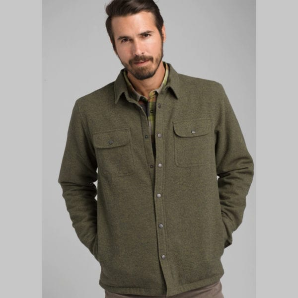 prAna Mens Dock Jacket Green
