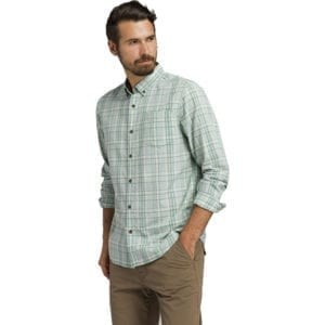 prAna Mens Mikael Button Up Agave