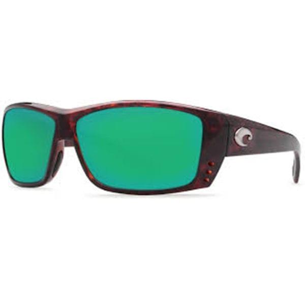 Costa Del Mar Cat Cay Tortoise Frame Green Mirror Lens