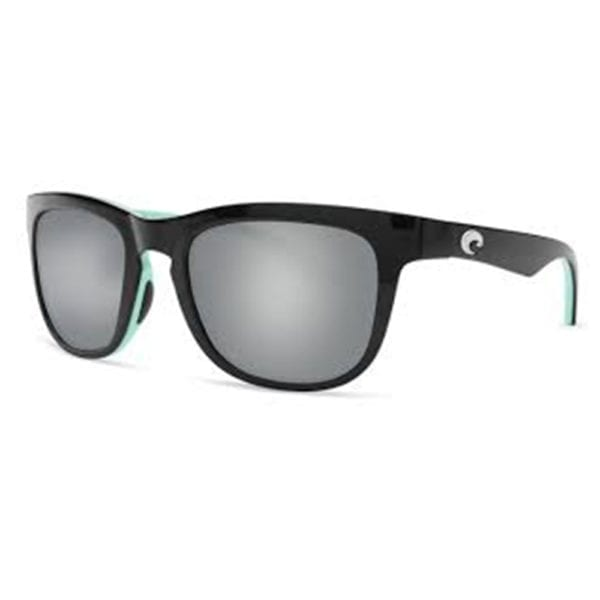 Costa Del Mar Copra Shiny Black Mint Frame Silver Mirror Grey Lens 580p