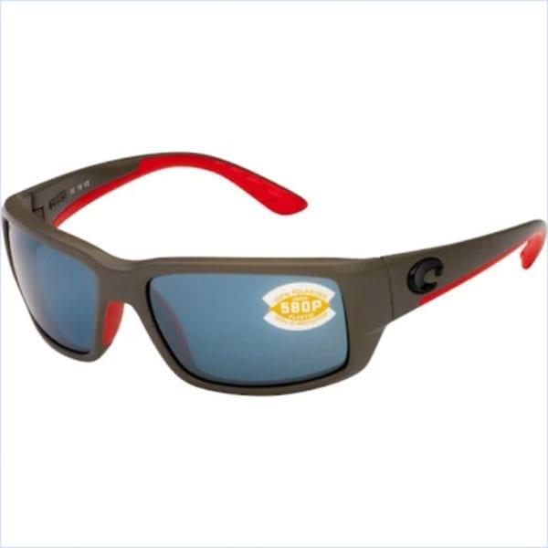 Costa Del Mar Fantail Race Gray Frame Silver Mirror Lens 580p